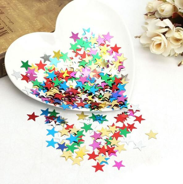 2000Pcs 10mm Colorful tissue paper star confetti wedding birthday party table decoration pinata fillers
