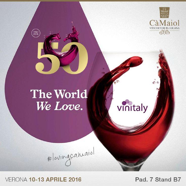 Manca poco alla 50^ edizione del Salone Internazionale dei Vini e dei Distillati. Noi ci saremo e ci troverete al padiglione 7, stand B7. Vinitaly, la più grande manifestazione dedicata al mondo del vino, si terrà dal 10 al 13 aprile negli spazi di VeronaFiere. #lovingcamaiol #vinitaly2016