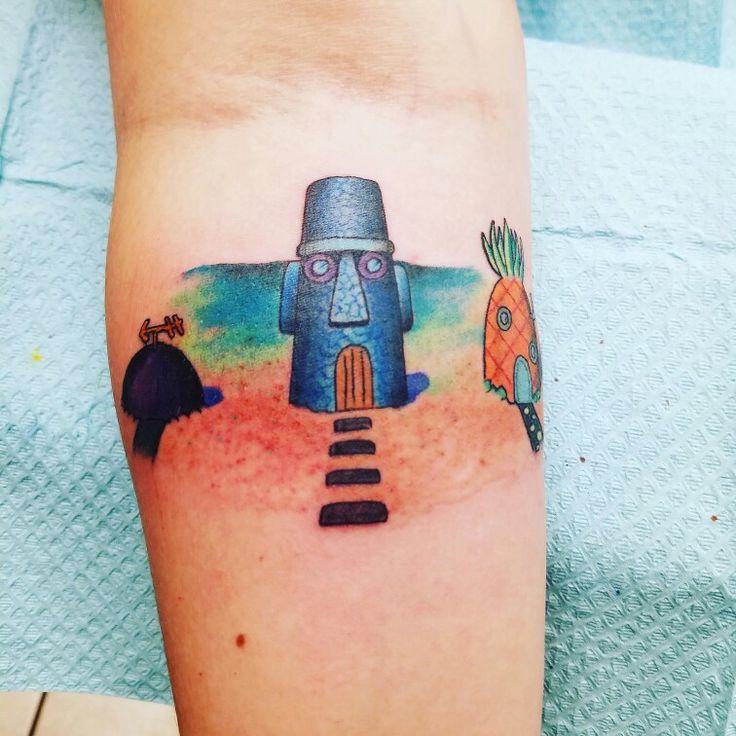 Got me a spongebob tattoo today :) #noshame