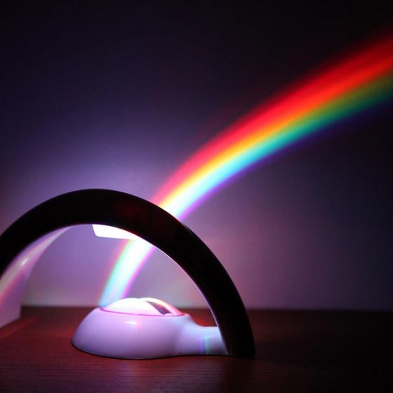 Rainbow In My Room Nightlight - shines a rainbow onto a wall, and lights up extremely bright!