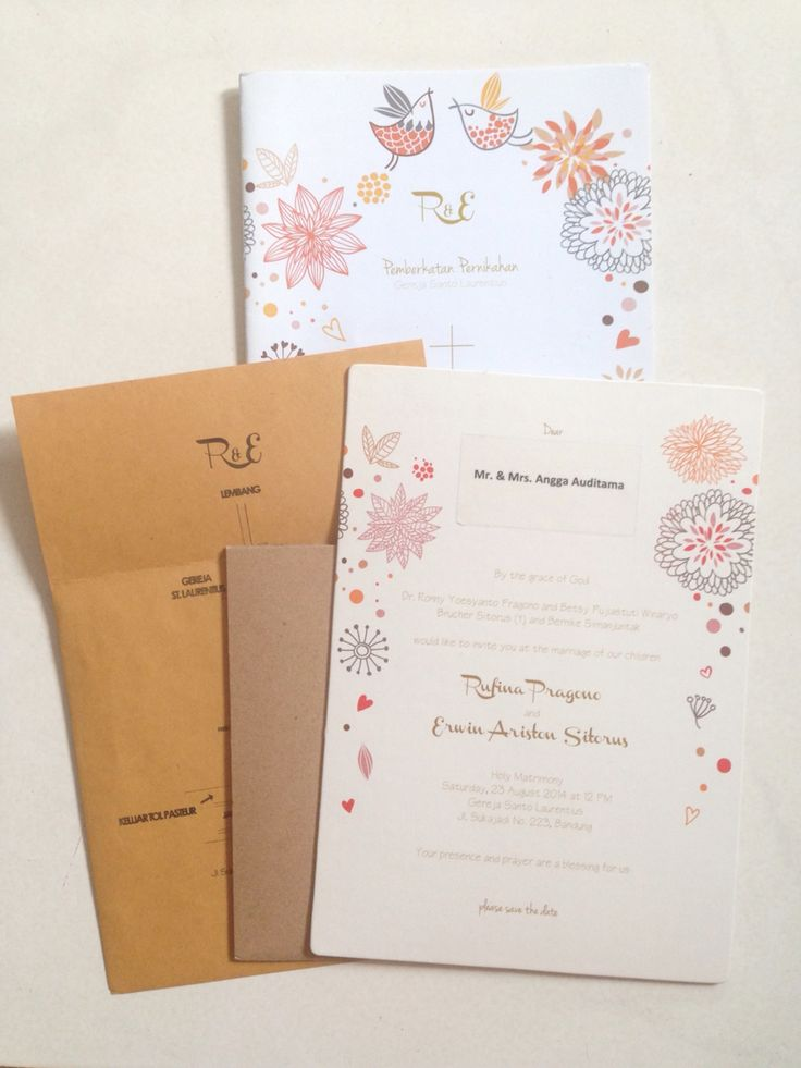 rufinaerwin / wedding invitation & holy matrimony cover book / oct.2014 / a bestfriend package :)