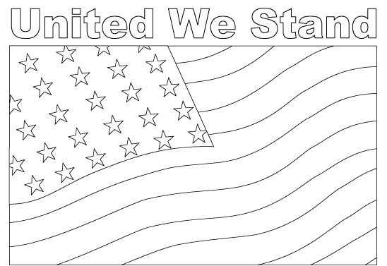 star spangled banner coloring pages - photo#17