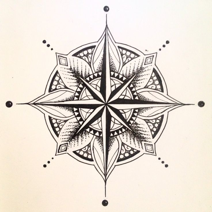 I love the idea of bringing together mandala design with  compasses