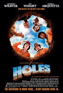 Holes (2003) A wrongfully convicted boy is sent to a brutal desert detention camp where he joins the job of digging holes for some mysterious reason.  #movie