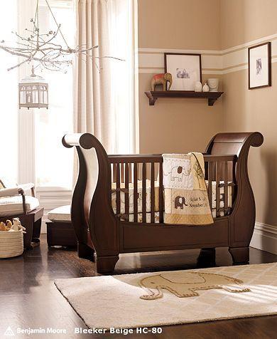 like paint pattern: Sleigh Beds, Elephants Nurseries, Boys Nurseries, Baby Ideas, Sleigh Cribs, Neutral Nurseries, Baby Rooms, Pottery Barns, Nurseries Ideas
