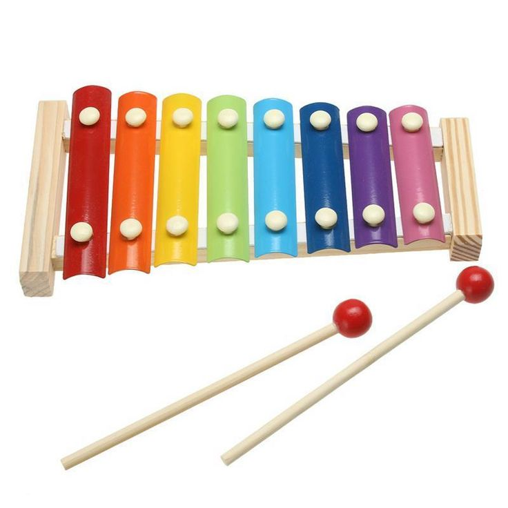 Kids 8-Note Wooden Musical Toys Teaching Aid Child Early Educational Development #JOCESTYLE #Woodenframe