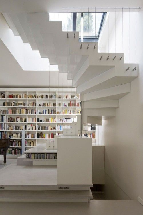 stairs cables: Interior Design, Stairs, Active Loft, Staircase, Smoothcore Architects, Book, Architecture, House