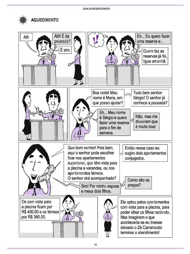 Guia para recepcionista