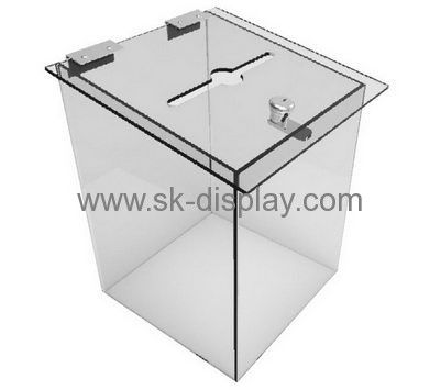 Lucite manufacturer custom clear acrylic display case box with lid DBS-224
