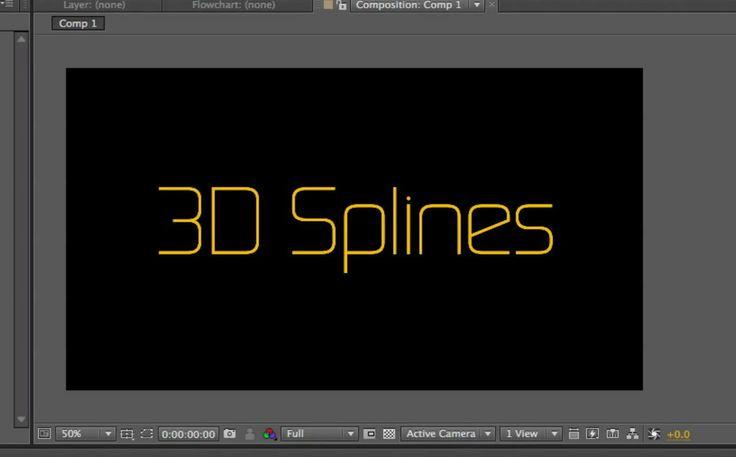 Plexus 2, 3D splines.