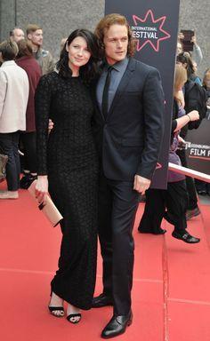 Sam Heughan and Caitriona Balfe at the Edinburgh International Film Festival