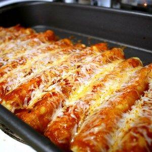 Easy Cheesy Chicken Enchiladas Recipe