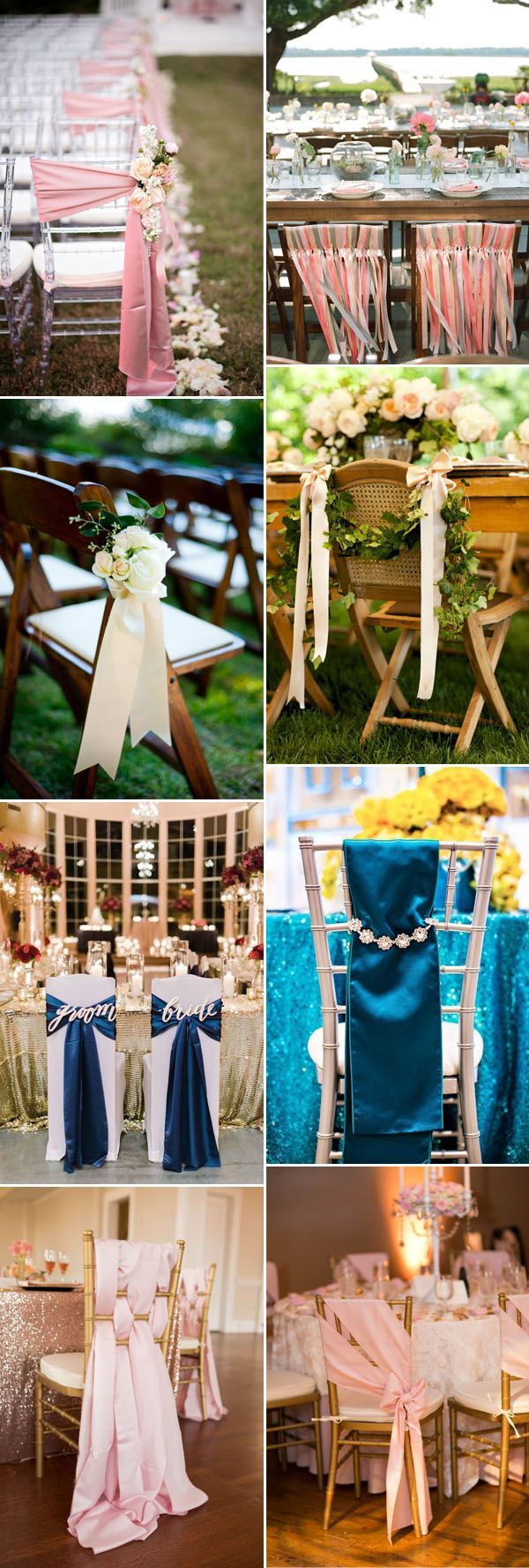 20 creative satin sash wedding chair decor ideas