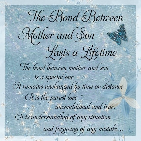 Quotes For Mother And Son Gorgeous The Bond Between Mother And Son