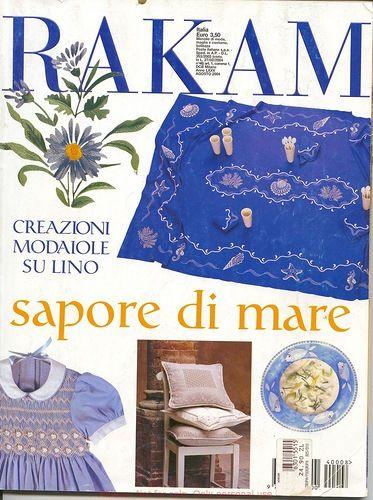 Magazine: Rakam - Sapore di mare 2004 (bordado) - modista - trabaja mano - Publisher - LÍNEA DE VIDA