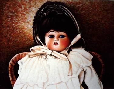 "Saatchi Art Artist Dan Civa; Painting, ""Old porcelain doll"" #art"