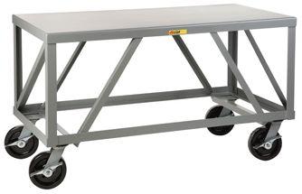 """48"""" W Heavy Duty 7 Gauge Mobile Table - Car Guy Garage"""
