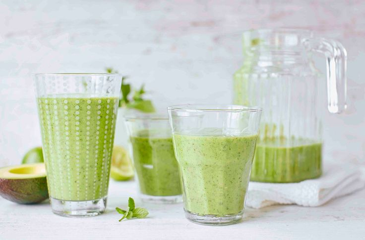 Bursting with flavour and nutrients, this green smoothie is packed with avocado, lime and leafy spinach. Find more drinks recipes at Tesco Real Food.
