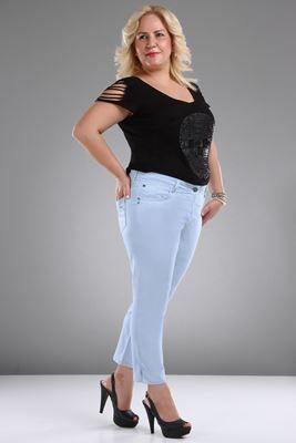 Yuksek Bel Cep Detay Mavi Kapri Pantolon Sezon Sonu Indirimi Ve Kapida Odeme Secenegi Ile Patirti Com 39 Da Moda Stilleri Yuksek Bel Giyim