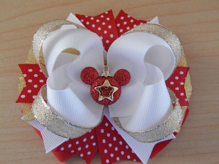 Mickey Holiday Hair Bow Christmas Gifts for Girls