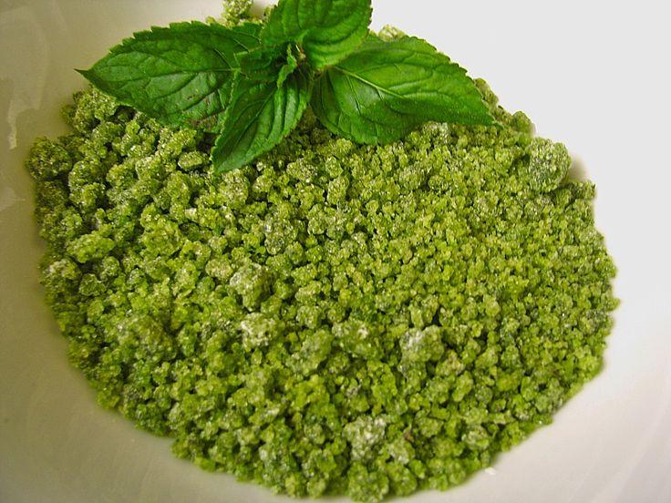 Grüner Pfefferminzzucker, ein sehr leckeres Rezept aus der Kategorie Schnell und einfach. Bewertungen: 39. Durchschnitt: Ø 4,7.