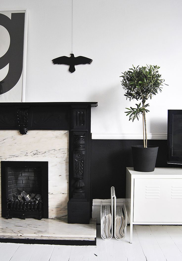 1000 images about colors in focus black white on pinterest black and white design black White walls and exposed brick go minimalist in this couple s retreat