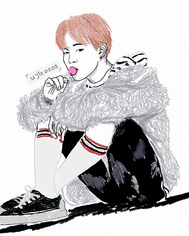[FA] Jimin, BTS Jimin, Park Jimin, BTS Fanart, You Never Walk Alone, Chimchim  [Don't edit & reupload]