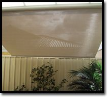 Roof to Fence Awnings  Great space saver!  Outdoor Shade Blinds Perth Australia  Bozzy Shade Blinds