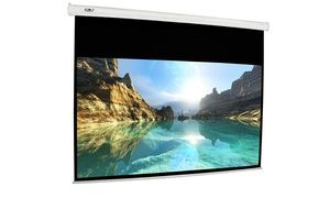 Groupon - FAVI 100 inch 16:9 Electric Projector Screen with IR/RF Remotes. Groupon deal price: $89.99