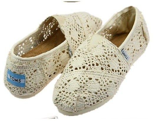 Women's Cheap Toms Shoes Wool Fabric in Beige