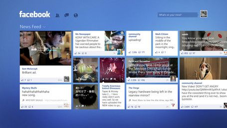 Facebook for Windows 8 concept makes gorgeous use of Metro