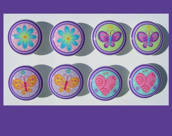 8 AMERICAN KIDS Butterfliy Flower Purple Dresser by PATRINASPLACE, $22.50