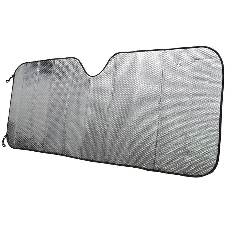 BDK Single Bubble Layer Car Sun Shade Universal Fit (Two Size) (Standard), Silver