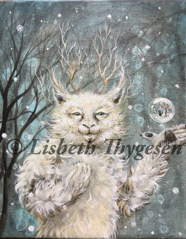 """• ETSY • • Nu kan du købe """"Magikeren"""" i min Etsy-butik lige i tide til at give den i julegave....til dig selv, eller en du holder af :) • • The latest addition to my #etsy shop: Original Art: """"The Magician"""". Maybe something for a Christmas present? :) •"""