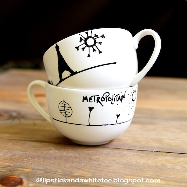 DIY Paris Cappuccino Cups, Great for those coffee drinkers in my world!