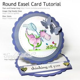 OWH Stars and Stamps (Our OLD blog!): Tuesday Tutorial: Round Easel Card