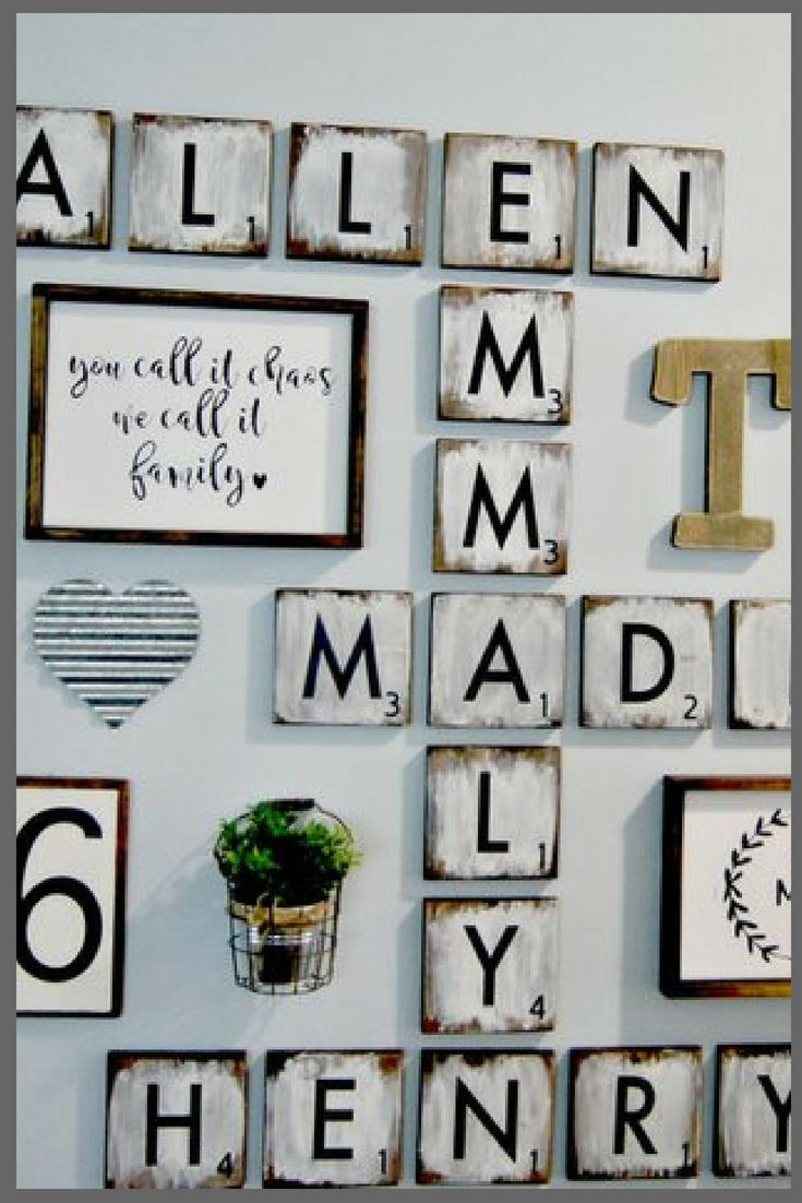 Large Scrabble Tiles 5 5 Wood Tiles Blocks Gallery Wall Decor Farmhouse Style Decor Scrabble Til Scrabble Tile Wall Art Scrabble Wall Scrabble Tiles Wall