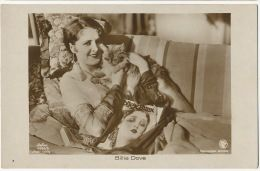 Billie Dove Silent Movie Actress And Her Cat Born In New York Actrice Cinema Muet Et Son Chat Chartreux - Cats