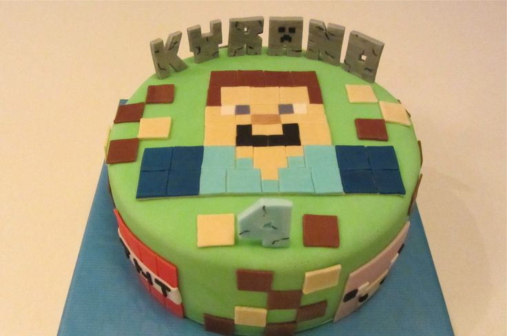 youtube how to make a minecraft cake