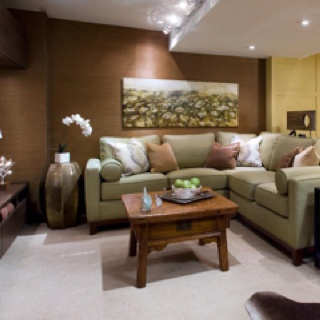 Nice Rec Room; Idea Of My Couch With Chaise In Corner To Give The Sectional