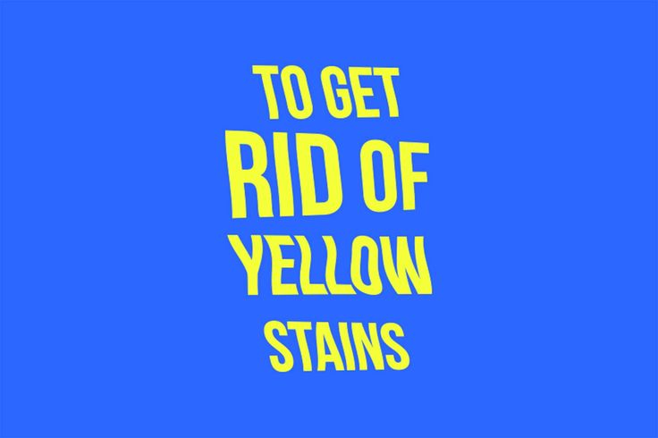 how to get rid of yellow stains on white shirts