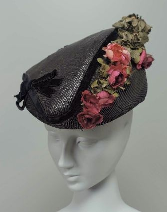 ~Black Straw Hat with Flowers, c. 1915~