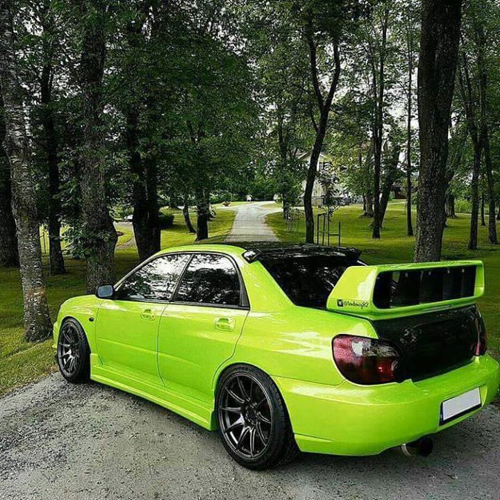Lime green Subie