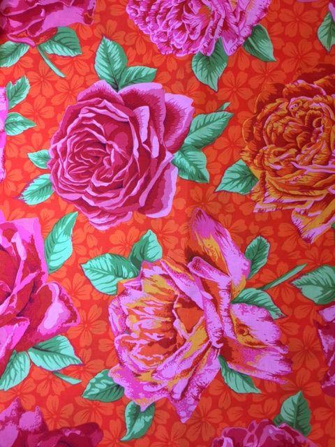 Kaffe Fassett Fabric Phillip Jacobs   Rose Bloom  PWPJ077