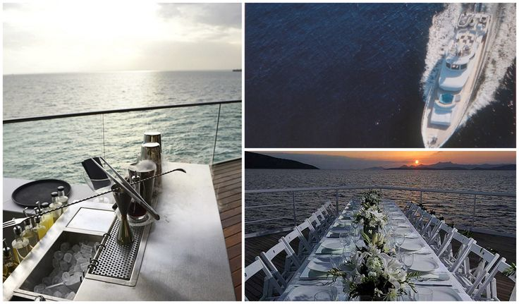 Wedding on luxury yacht