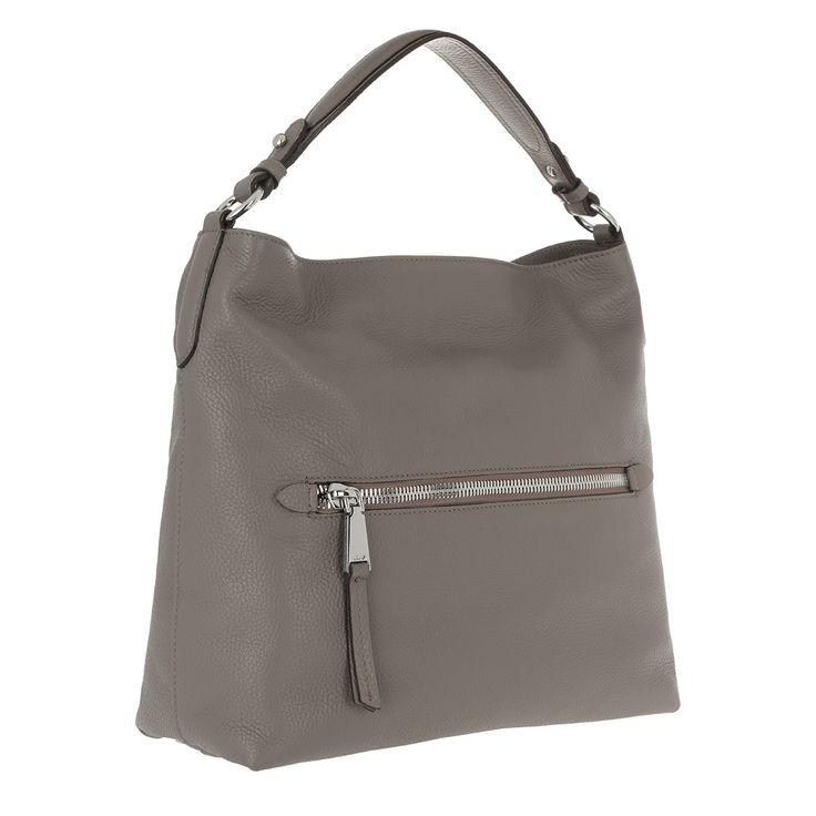 Handtasche, Abro, Adria Leather Hobo Bag Zinc