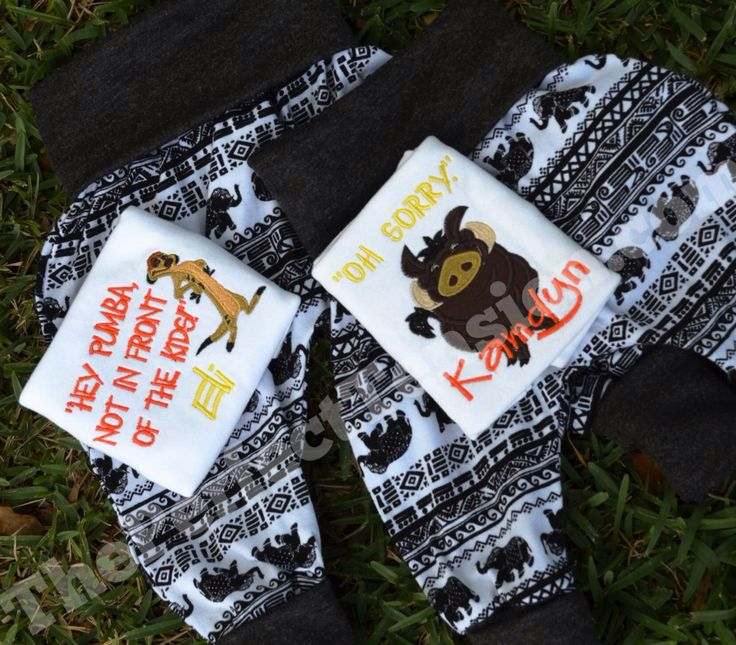 This adorable custom Lion King set was made for two cousins born just days apart! Happy birthday sweet boys!