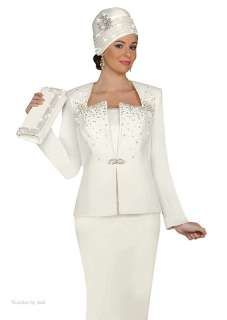 Unique Bridal Skirt Suits Ben Marc Off White Rhinestone Evening Wedding Church Dress Suit