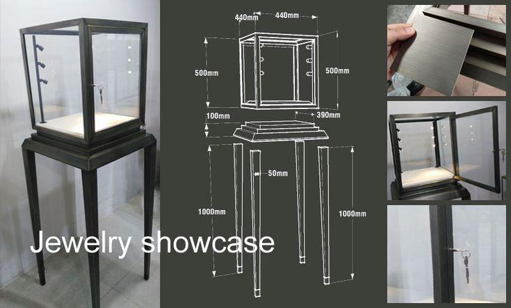 Stainless Steel Jewelry Showcases(metal),this is good metal display racks for jewlery!