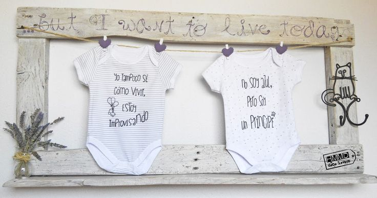 Bodys con frases para bebés HMMD Handmademaniadecor, regalo para el día del padre o para recién nacido. Baby body suits with phrases by HMMD, ideal for gifts